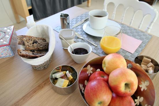 Le Hameau des Vignes : petit déjeuner