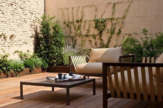 Mercer Hotel Barcelona: Detalle de la Terraza de la Junior Suite 108