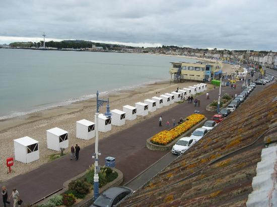 Windsor Hotel: View of Weymouth and the Sea Life Tower from the Window of Room 11