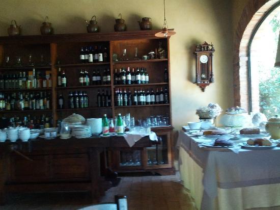 فيلا سيكولينا: Colazione e tavola imbandita 