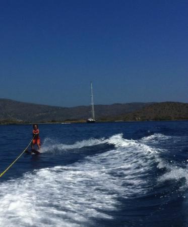 Elounda Peninsula All Suite Hotel: My son waterskiing