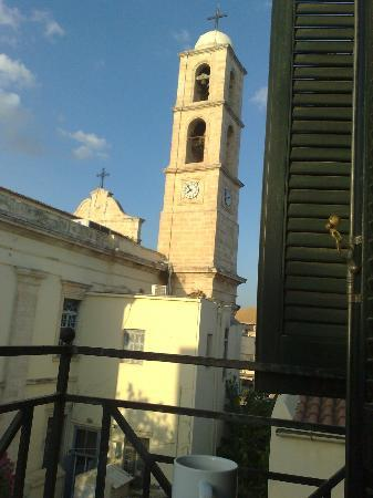 Vranas Studios: Church tower as seen from the room