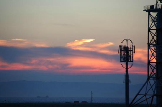 関空展望ホールスカイビュー, 日が暮れてからの空が美しい