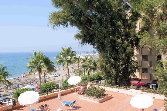 hotel fuerte marbella view from the balcony of room