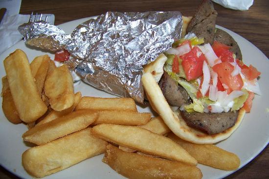 Vancostas: Gyro sandwich with steak fries