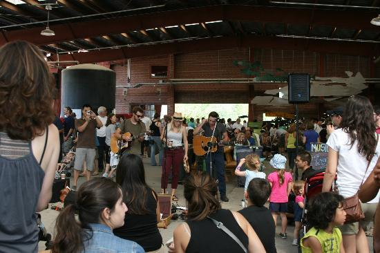 Evergreen Brick Works: music while you lunch