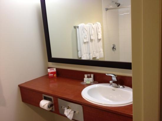 Super 8 Peterborough: room 205 - bathroom