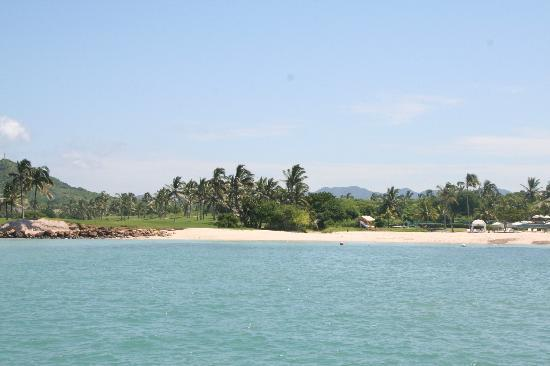The St. Regis Punta Mita Resort: View of beach from boat trip...