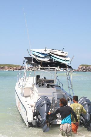 The St. Regis Punta Mita Resort: Our Boat, geared up for Marietta Island tour