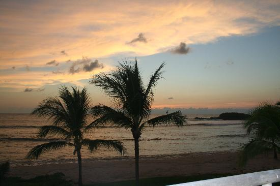 The St. Regis Punta Mita Resort: sunset from our balcony/terrace