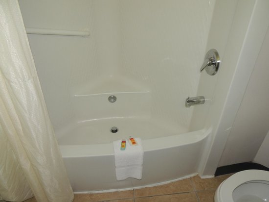 Econo Lodge Johnstown:                   Shower a bit small but about the best part of room.