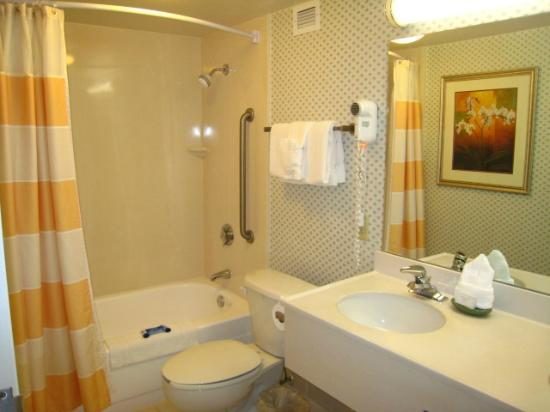 Fairfield Inn & Suites Palm Beach: fully equiped bathroom