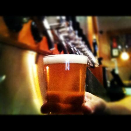Lennie's and the Bloomington Brewing Co.: One of 11 BBC Ales on tap.