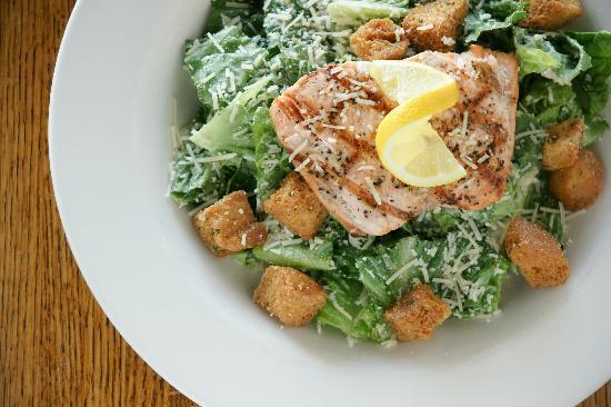 Pepper's Restaurant and Bar: Grilled Salmon Caesar Salad