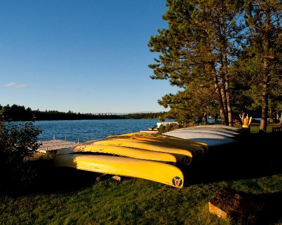 Arowhon Pines: A few canoes...