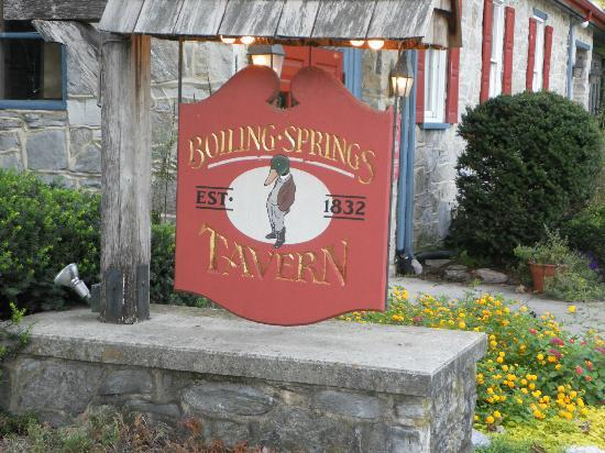 Boiling Springs Tavern: Inviting unique sign