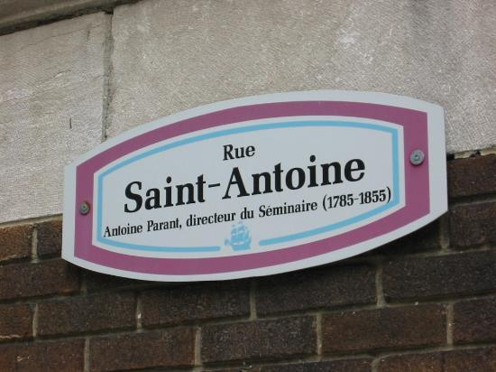 Auberge Saint-Antoine: The address so you don't miss it