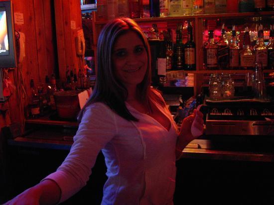 Maverick Steak House: The lovely barmaid