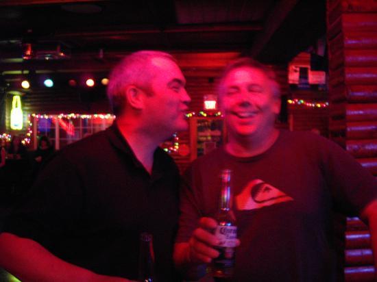 Maverick Steak House: Me (L) and my Californian mate.
