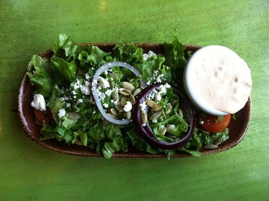 Mad Mex: side salad with blue cheese dressing