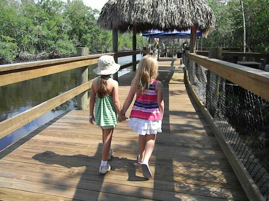 Jungle Erv's Everglades Airboat Tours: My daughter on left and her bestie celebrating her Birthday