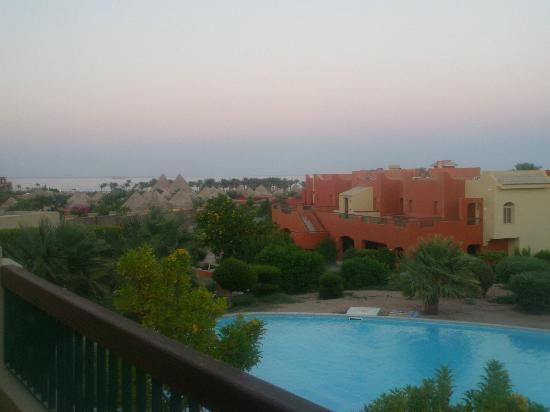 Balcony view overlooking swim up pool block 9