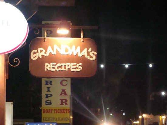 Grandma's Recipes : Insegna