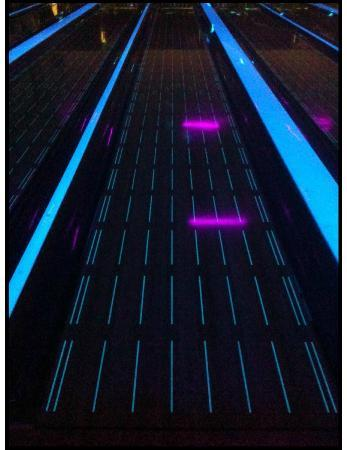 Town and Country Bowling Lanes: Lanes 1-24 have bumpers and Tron Moonglow lighting effects