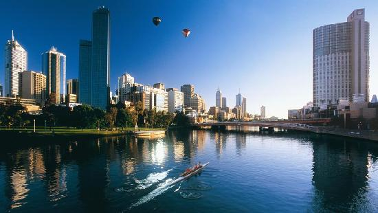 Australien: The Yarra River in Melbourne, Victoria