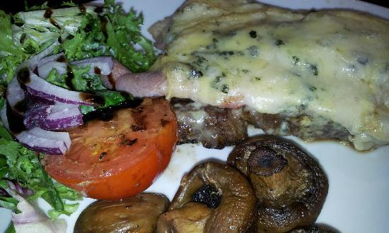 The Harbourmaster: Ribeye with Parma Ham & Pembs Blue Cheese
