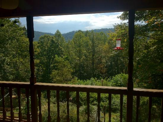 Aska Lodge B&B: View from the porch of the Jean Katherine Room