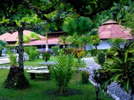 Hotel y Restaurant Samoa del Sur: Jardines del hotel