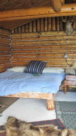 Little Mulchatna Lodge: Bed in our cabin
