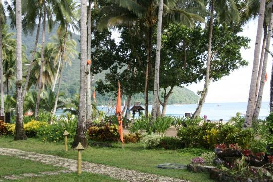 Daluyon Beach and Mountain Resort: VIEW FROM THE ROOM