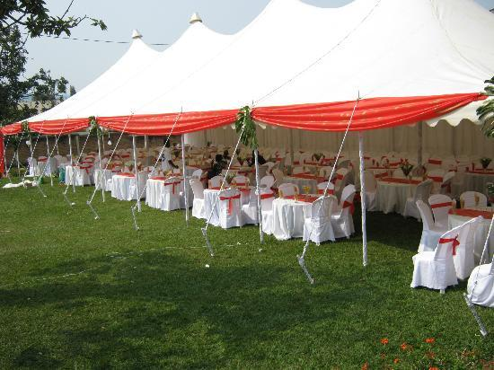 Woodland Hotel : weddings tent