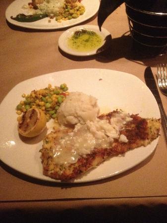 Bonefish Grill: Crab Crusted Orange Roughy over garlic mashed potatoes
