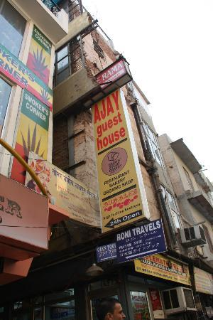 Ajay Guest House: View from Main Bazaar Rd.