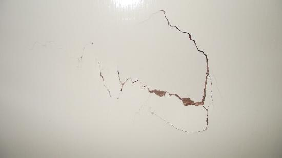 Britannia Hotel Coventry: Hole in bathroom door