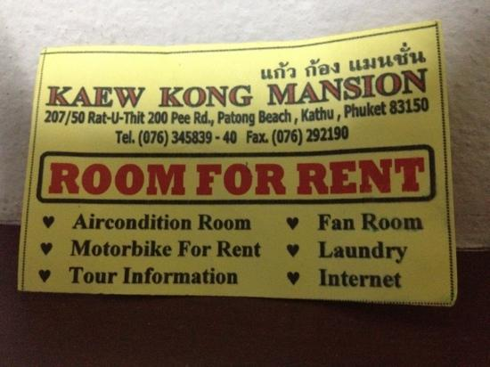Kaew Kong Mansion: best to be avoided