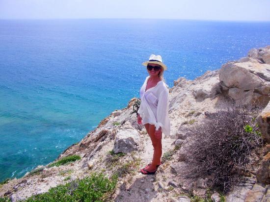 Arriba de la Roca: Hiking around the property.