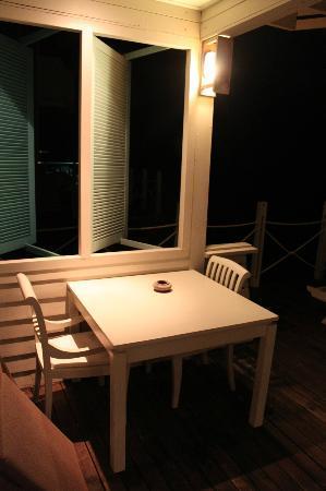 J Resorts Alidhoo: outdoor patio 