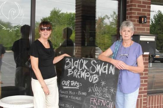 Outside the Black Swan Brewpub