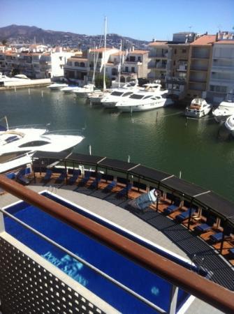 vue depuis la terrasse - Picture of Port Salins Hotel, Empuriabrava ...