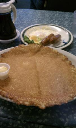 Crying Onion Cafe: As big as your plate pancake!