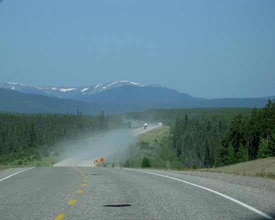 One of several gravel stretches - Alaska Highway