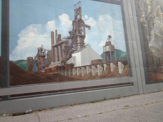 Captivating Portsmouth Floodwall Mural: Floodwall Mural, Portsmouth, Ohio Part 27