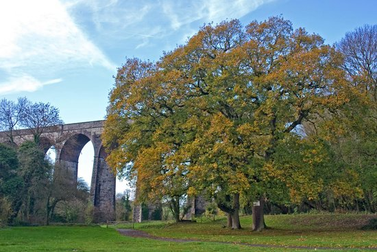 Barry, UK : Porthkerry Park viaduct