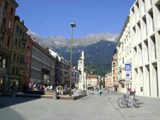 Maria-Theresien-Strasse: The Medieval Maria Theresiastrasse, Innsbruck, Austria.