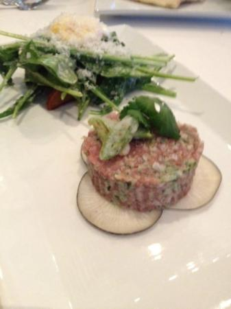 ‪‪Mack by Chan's‬: Beef Tartare with Arugula/Egg Yolk Salad
