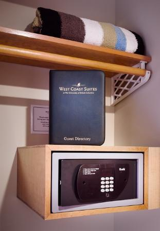 West Coast Suites at UBC: In-room Safe in Every Suite